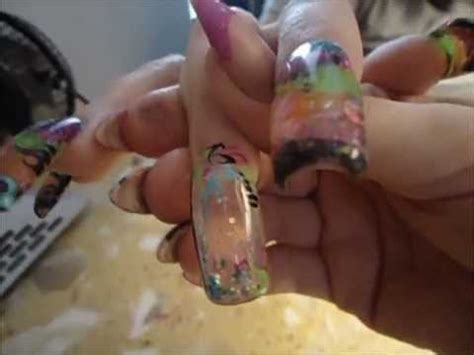 aquarium design nail art aquarium nail water nail youtube