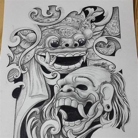 Topeng Airbrush check this out on instagram balinese barong ps