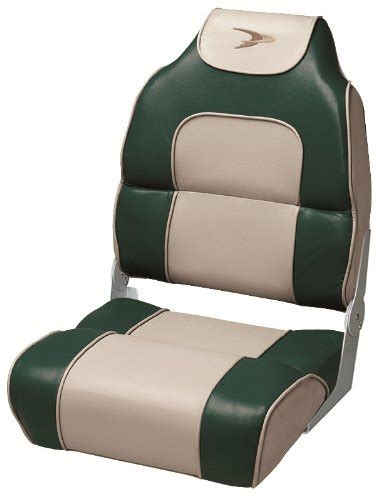 wise high back boat seat with logo wise high back boat seat with logo green tan ebay
