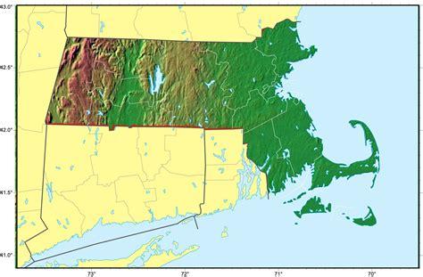 massachusetts physical map massachusetts relief map mapsof net