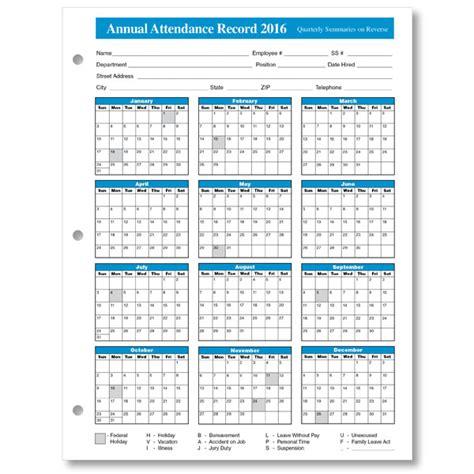 Get Printable Calendar 2016 Employee Attendance Calendar Printable Employee Absence Schedule Template