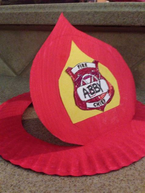 firefighter hat template preschool fireman hat from paper plate projects i made