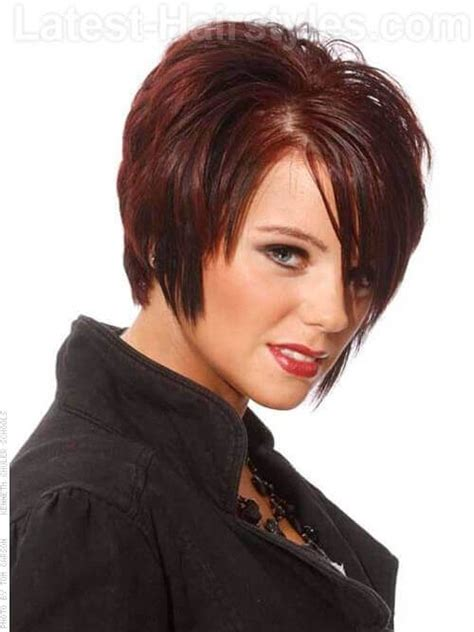 short haircuts with crown volume hairstyle with height on the crown and a long fringe