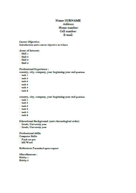 si鑒e social en anglais mod 232 le de cv en anglais classique exemples de cv
