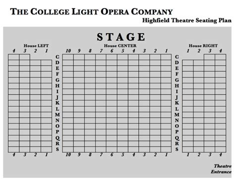 College Light Opera Company by Box Office The College Light Opera Company