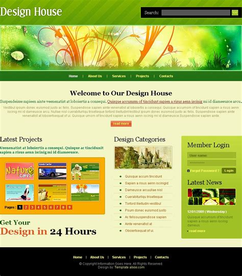16 Free Html Web Design Templates Images Free Web Design Website Template Free Web Page Free Website Design Templates