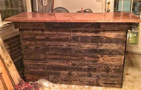 copper bar tops for sale almost finished reclaimed pallet wood bar with a textured copper top restoration projects for