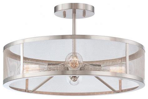 industrial semi flush mount lighting mesh industrial semi flush mount ceiling light flush