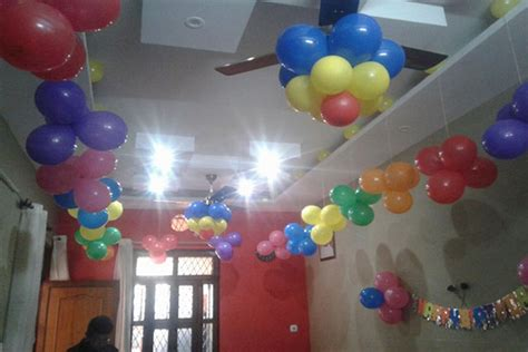 balloon decoration for birthday party at home 1000 simple birthday decoration ideas at home quotemykaam