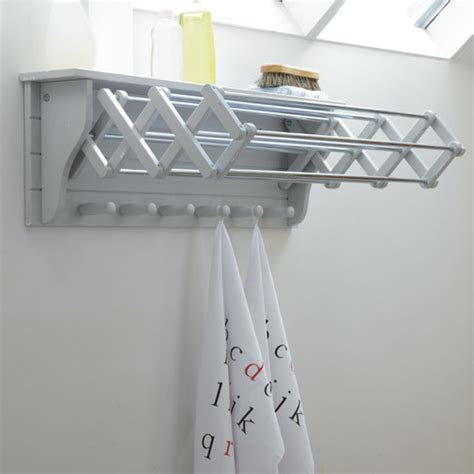 Clothes Dryer Shelf by Garden Trading Birch Extending Clothes Dryer Kitchen Drying Rack 2 Colours Ebay