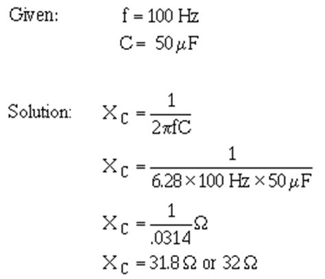 capacitive reactance formula pdf electrical engineering tutorials capacitive reactance