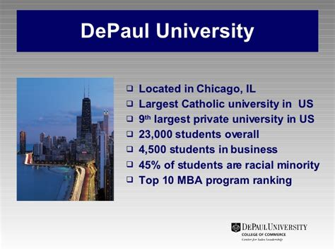 Mba Depaul Ranking by Sales Performance A Reality Check