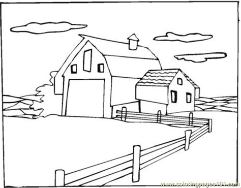 coloring pages warehouse in the village architecture