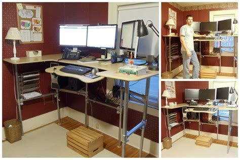 building standing desk upcycle a sitting desk into a standing desk
