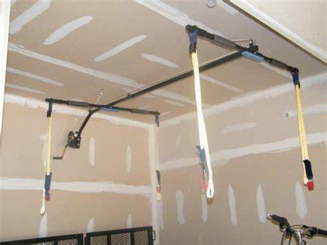garage hoist system storage