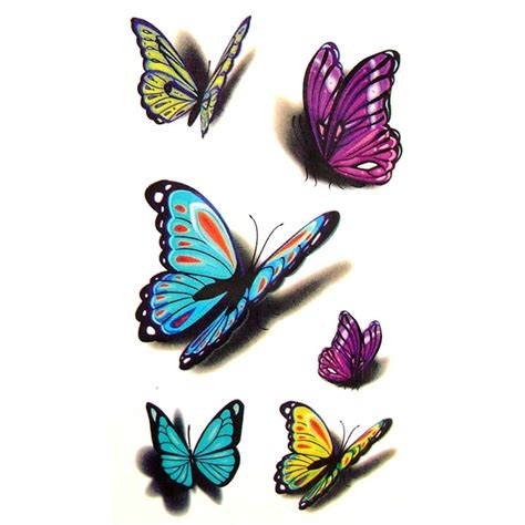 tattoo 3d papillon tatouage ephemere tatouage temporaire tatouage papillon 3d