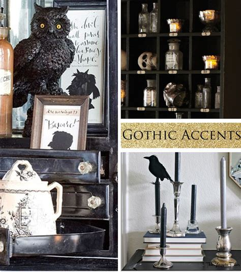 goth home decor gothic decor accents halloween pinterest