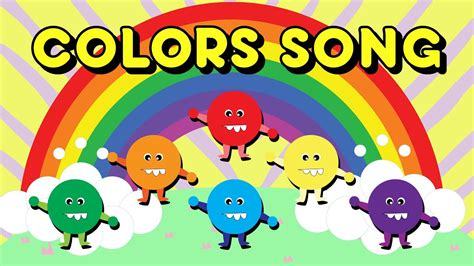color song rainbow colors song with and lazer nursery