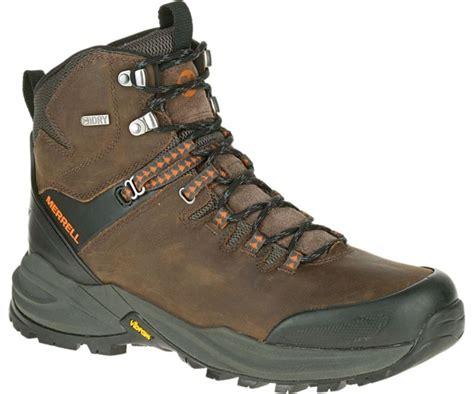 mens waterproof hiking boot merrell s phaserbound waterproof hiking boots