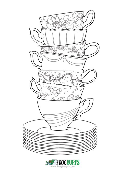 creative tea time coloring book coloring books tea time coloring page frogburps