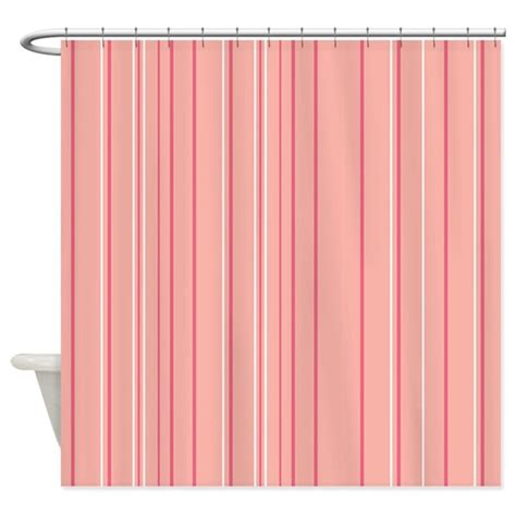 peach colored kitchen curtains stripes multi peach shower curtain by admin cp45405617