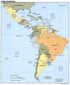 Latin America Topographic Map by Map Of Latin America Mapsof Net