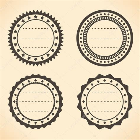 the images collection of vector round label victorian round vintage blank vintage round quality labels vector illustration