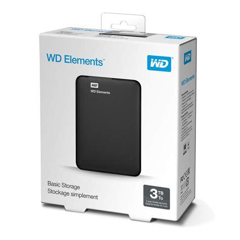 Ori Wd Elements Hardisk Eksternal 2tb 2 5 Usb3 0 Hitam 1 disco duro externo hdd wd western digital 3tb informatica megasur