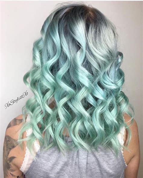 mint color hair 17 best ideas about mint hair on mint hair