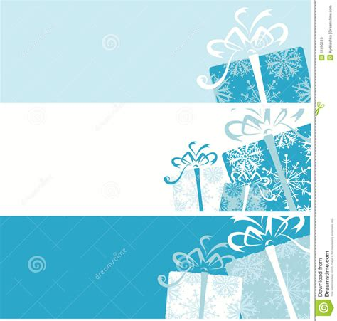christmas gift box banners for your design stock vector