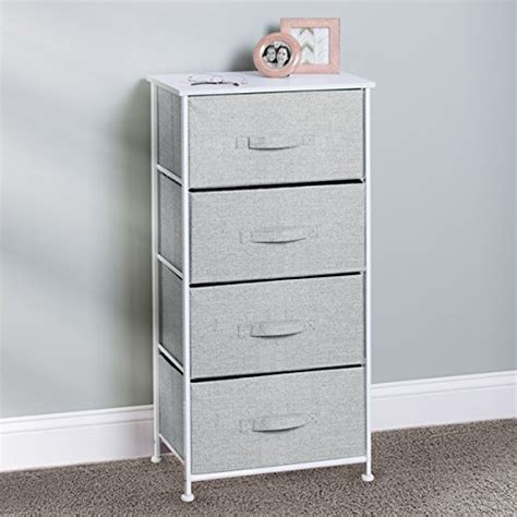 bedroom storage bins mdesign fabric 4 drawer storage organizer unit for bedroom
