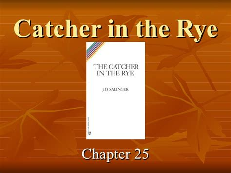 catcher in the rye chapter 17 themes catcher in the rye chapters 25 26