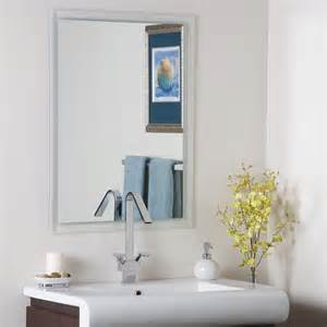 Bathroom Vanity Mirrors Frameless Wall Mirror Bathroom Frameless In Frameless Mirrors