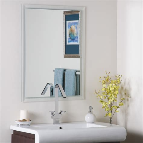 Frameless Bathroom Mirrors Wall Mirror Bathroom Frameless In Frameless Mirrors