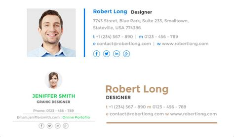 design html signature create html email signature for your buisness for 10