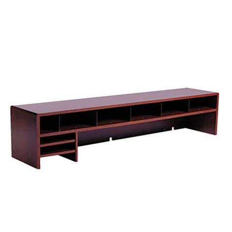 Low Profile Desk Hutch by Safco 3671mh Low Profile Mahogany 10 Section Desktop Hutch