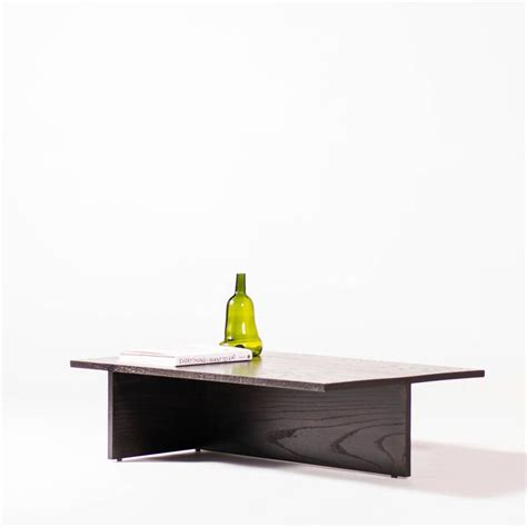 Low Black Coffee Table Low Minimal Coffee Table In Black Lacquered Oak For Sale At 1stdibs