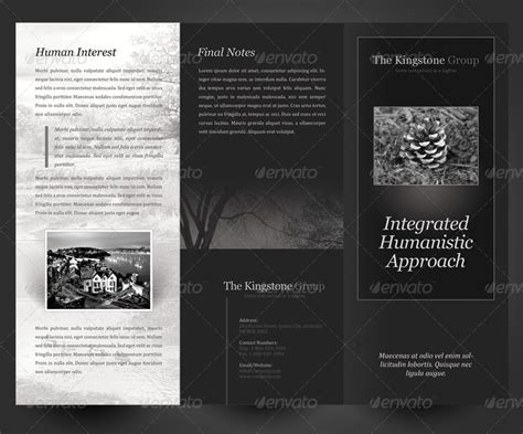 black brochure template black brochure template black white theme trifold brochure