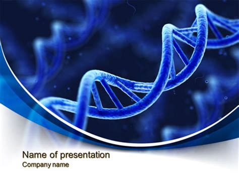3d Dna Presentation Template For Powerpoint And Keynote Ppt Star Dna Powerpoint Templates