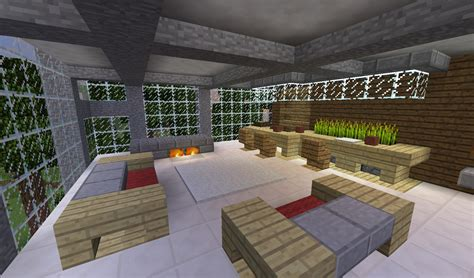 Modern Living Room Design Minecraft Detail Modern Living Room With Couches Bar And