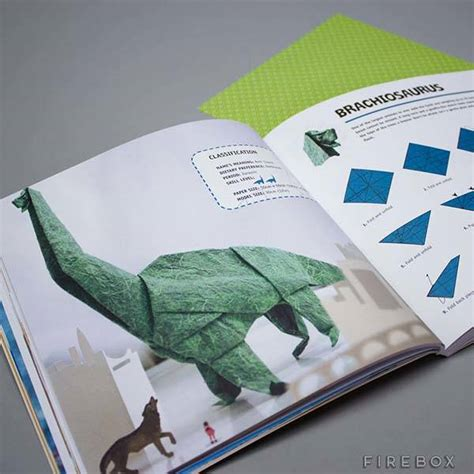 Origami Dinosaur Book - the dinosaur origami book lets you build your own jurassic