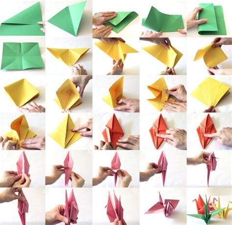 How Make Paper Crane - paper crane tutorial to help your children those in