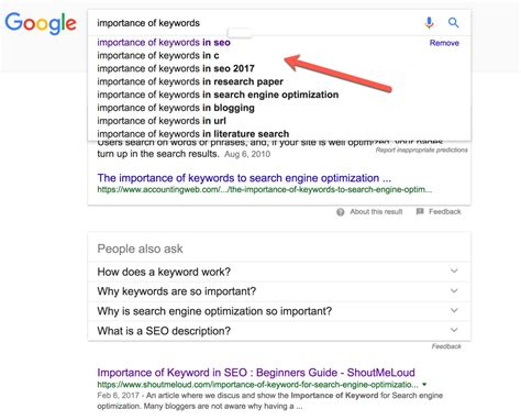 Keywords Search For Importance Of Keywords In Seo A Beginner S Guide