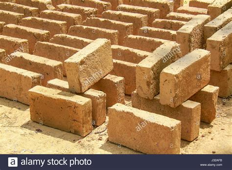 Handmade Clay Bricks - handmade brick stock photos handmade brick stock images
