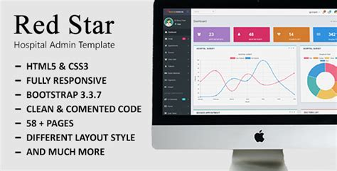 bootstrap templates for hospital redstar hospital bootstrap admin template download