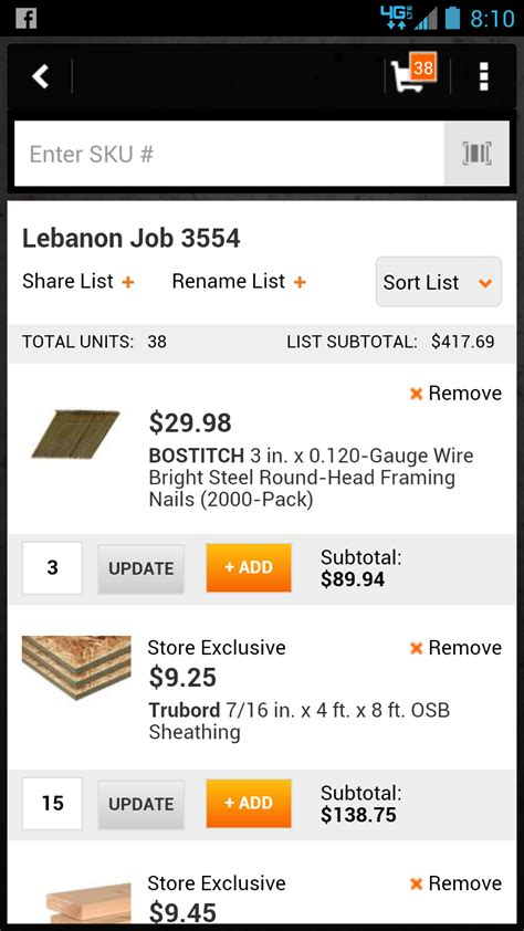 the home depot pro app jobsite access home