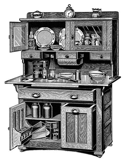 Vintage Kitchen Clipart by Kitchen Cabinets Free Vintage Clip Design Shop