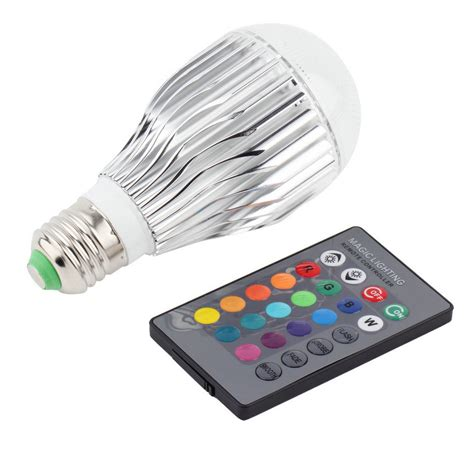 led color changing l rgb led light with remote 3w e27 16 color led rgb