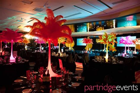 carnival themes brazil bright feathered table centers for carnival themed