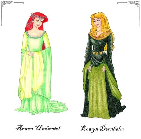 lord of the rings disney princess fan 17707325